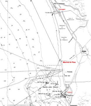 Dove si trova l'estuario del fiume arno